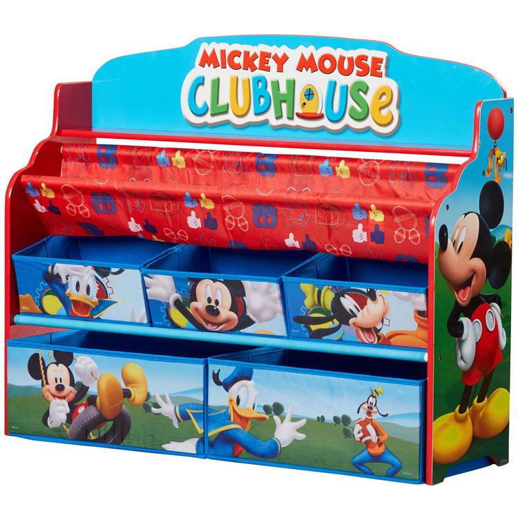 【割引クーポン有】7月上旬入荷予約販売/ デルタ ディズニー ミッキーマウス デラックス 本棚 おもちゃ箱 3-6歳 Delta