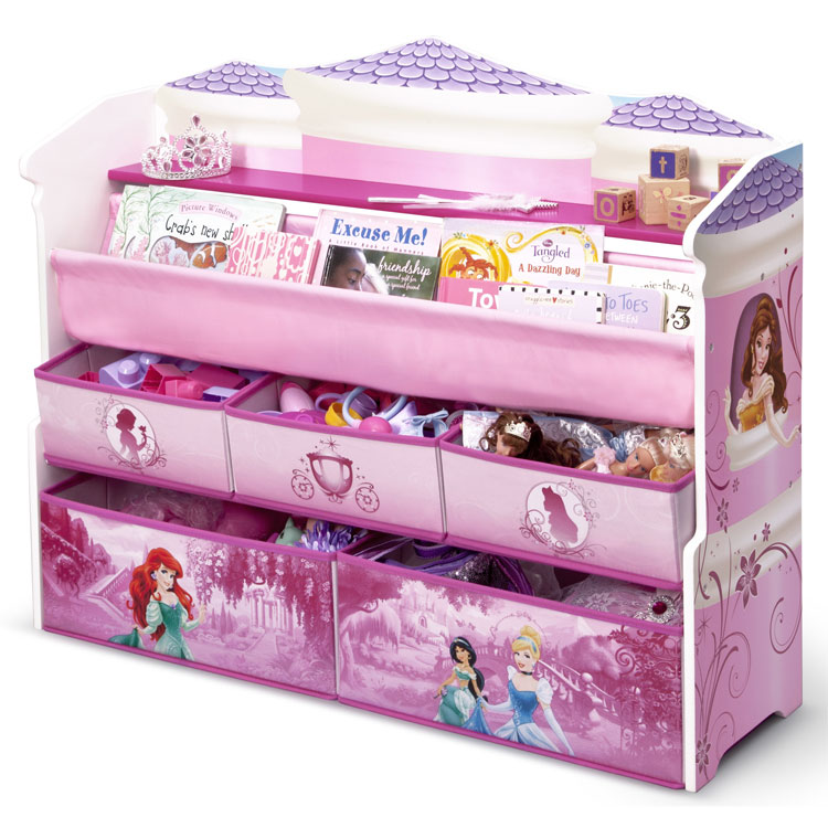 Delta Deluxe Bookshelf Toy Box Organizer For Kids Furniture Room Storage Disney P25Jan15
