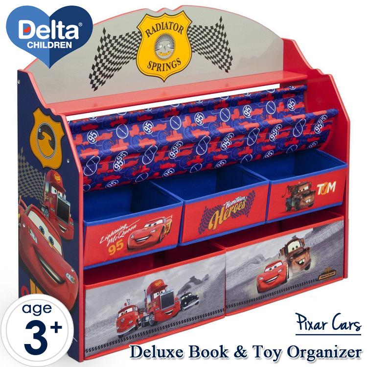 【割引クーポン有】デルタ ディズニー ピクサー カーズ デラックス 本棚 おもちゃ箱 男の子 3-6歳 Delta tb84993cr