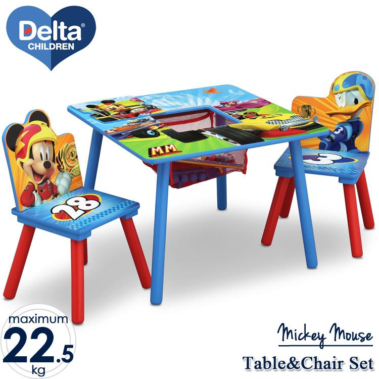 Online ONLY(海外取寄)/ ディズニー ミッキーマウス テーブル&チェア 収納付き 3点セット デルタ delta