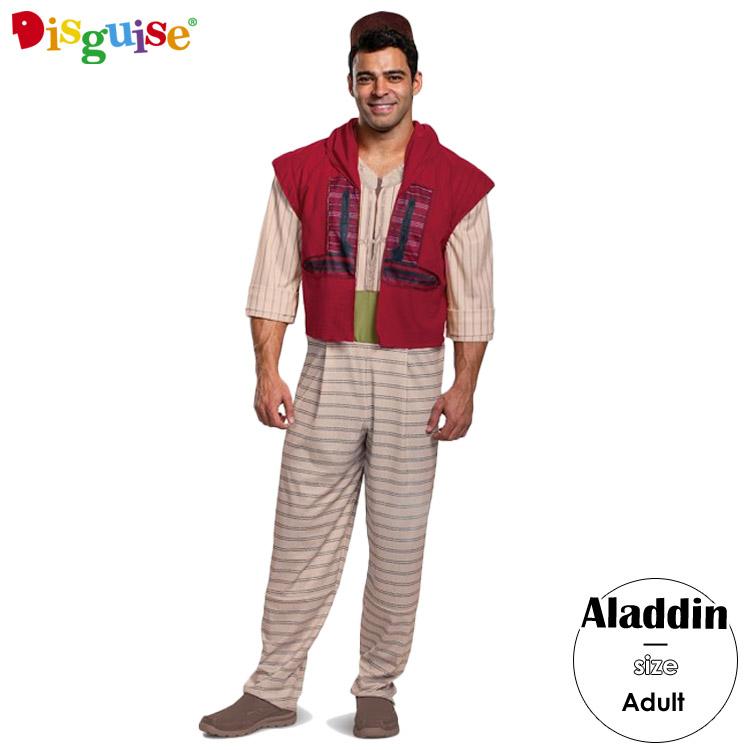 【スーパーSALE割引商品】ディズニー アラジン コスチューム メンズ 男性用 175-180cm Disguise 22618