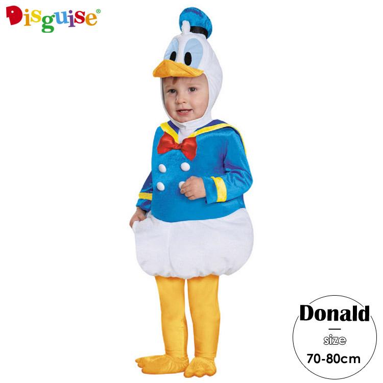 ディズニー ドナルドダック ハロウィン コスチューム コスプレ ベビー 赤ちゃん キッズ 子供 70-80cm 衣装 Disguise 85626 ルービーズ