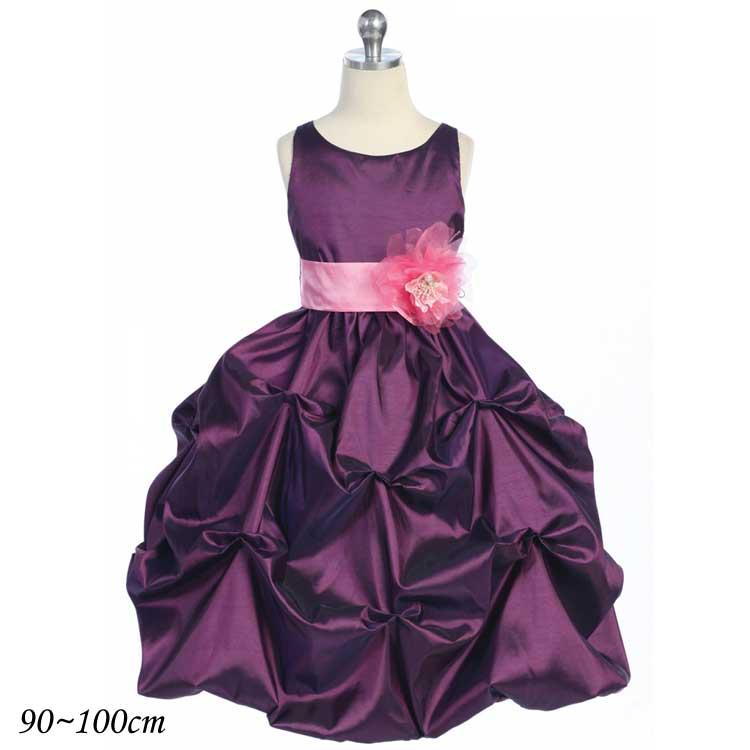 ddd0777c24f3a 楽天市場 子供 ドレス フォーマル 女の子 90-100cm プラム ラフレシア ...
