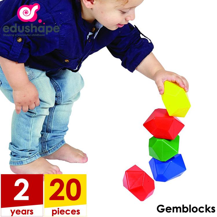 【大決算・割引商品】エドシェイプ ジェム ブロック 20個セット おもちゃ カラフル ブロック EduShape 826091