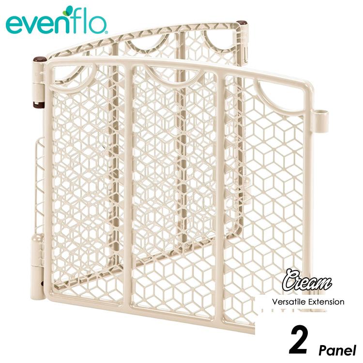 【P2倍・12月19日20時から】evenflo ベビーゲート プレイスペース ゲート拡張 2パネル バーサタイル イーブンフロー クリーム