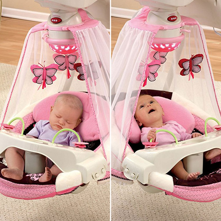 From An Online Only Overseas Order Fisherprice Fisher Price Mocha Butterfly Crib Train Movement Swing Blue Bouncer Newborn Baby