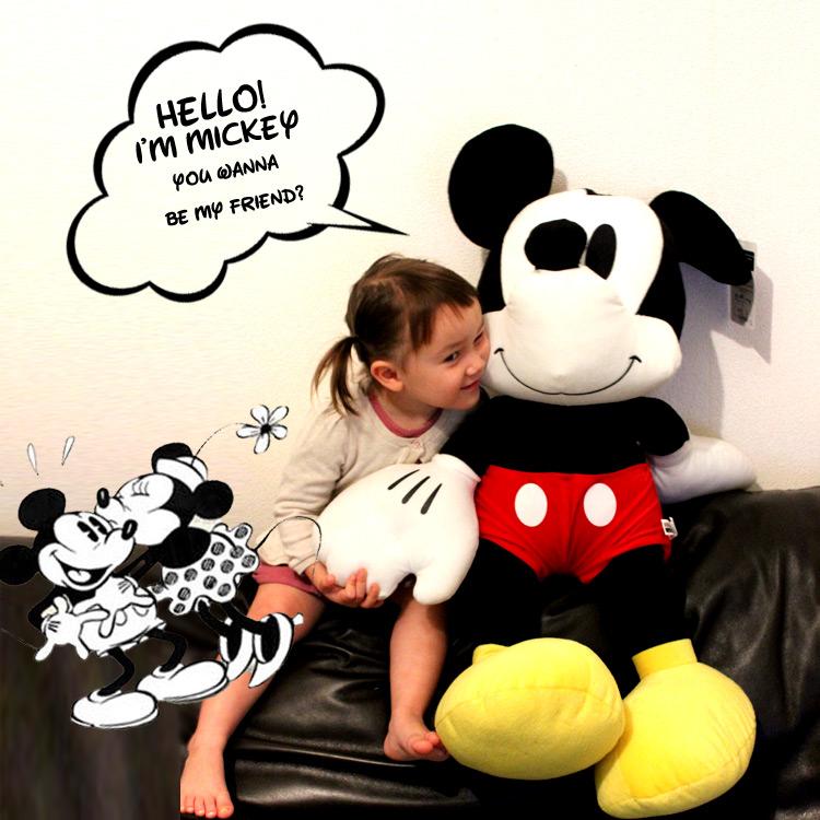 【訳あり】ぬいぐるみ 81cm ディズニー ミッキーマウス クラッシック ドール ぬいぐるみ 人形