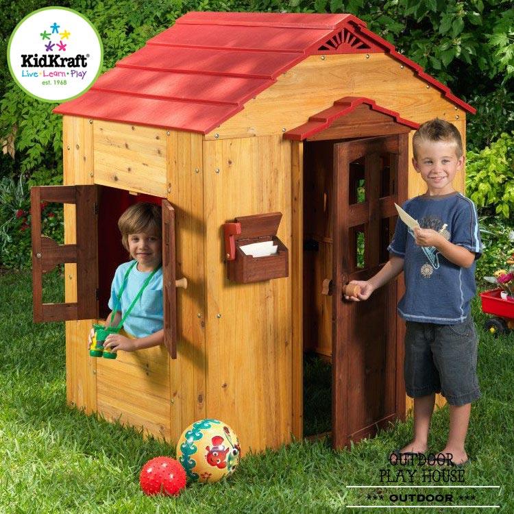 Online ONLY(海外取寄)/ キッドクラフト アウトドア プレイハウス 木製 KidKraft 00176 /配送区分C