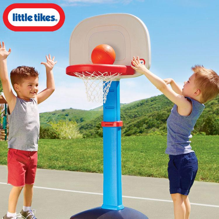 リトルタイクス バスケット ゴール セット 1歳半から ブルー LittleTikes 612329