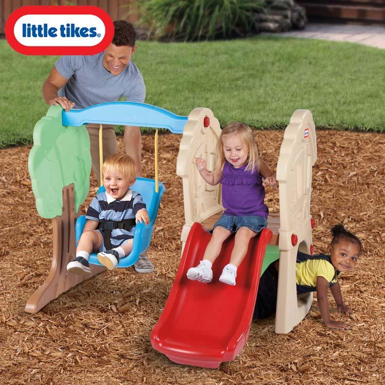 リトルタイクス ハイド&シーク クライマー&スイング 滑り台 大型遊具 Littletikes 630293 /配送区分B