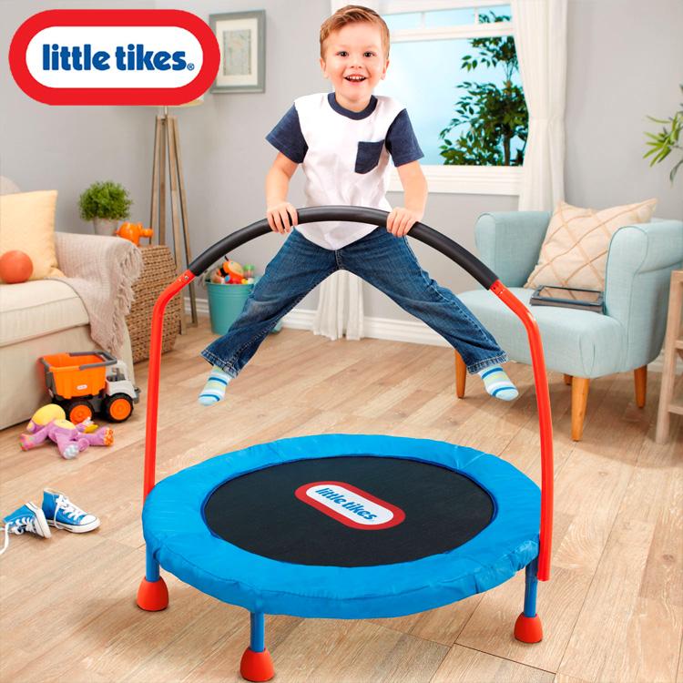 Online ONLY(海外取寄)/ リトルタイクス 3フィート トランポリン 3歳から 手すり付き 折りたたみ LittleTikes 630354