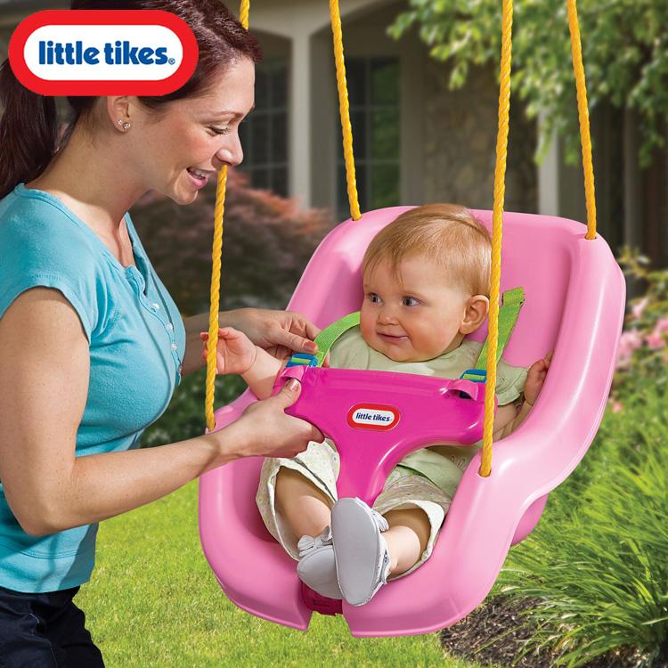 Littletikes 645280 正規販売店 スナッグン セキュアー スウィング ブランコ おもちゃ 屋内 外遊び玩具 乗用玩具 アウトレット☆送料無料 屋外 数量限定 のりもの リトルタイクス ピンク 9ヶ月から
