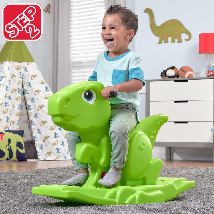 乗物 キッズ ONLY(海外取寄)/ ロッカー STEP2 Online 乗用玩具 ステップ2 恐竜 1歳半 室内 ロッキング 497100 ディノ おもちゃ