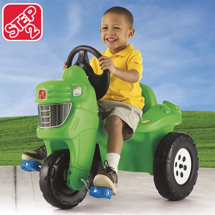 【割引クーポン有】在庫限り/ ステップ2 乗用玩具 三輪車 乗り物 ペダルファーム トラクター STEP2 717600