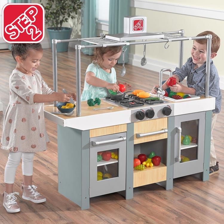 【割引クーポン有】ままごと キッチン 木製 アップタウン アーバン キッチン 785900 STEP2 /配送区分A