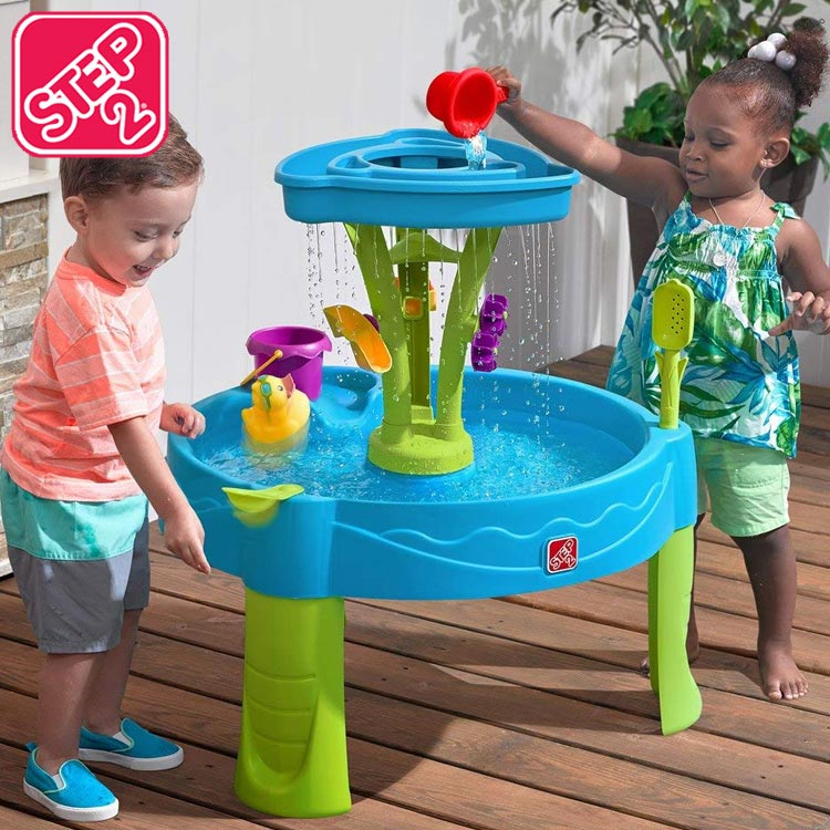 Online ONLY(海外取寄)/ ステップ2 サマーシャワーズ プラッシュタワー ウォーターテーブル 水遊び STEP2 897400