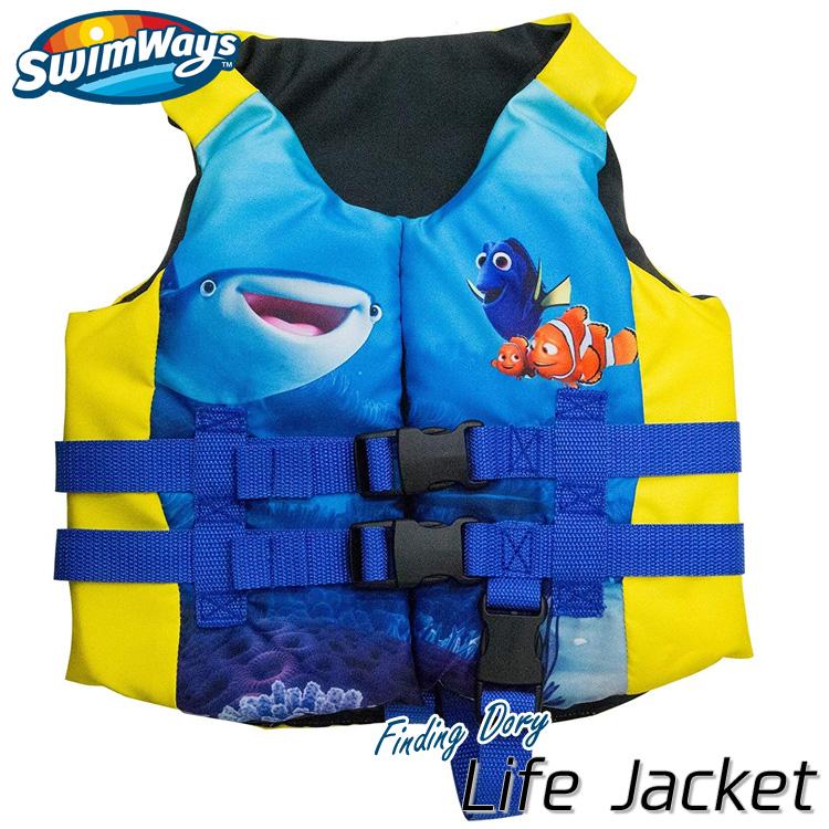 【P2倍・12月26日12時まで】子供用 ライフジャケット ディズニー ピクサー ファインディングドリー 3歳から アメリカ沿岸警備隊公認 ライフベスト SwimWays