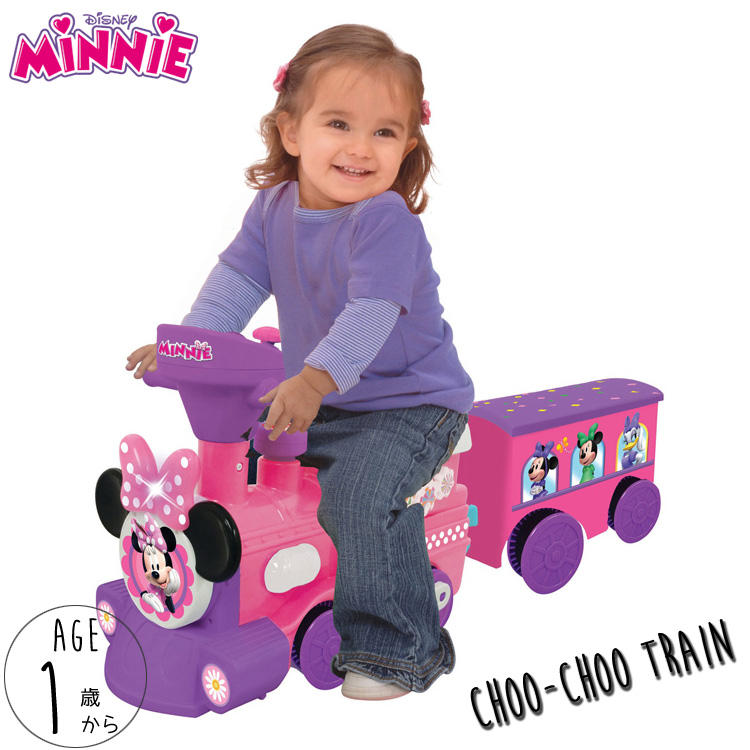 【Springsale】 乗物玩具 ディズニー ミニーマウス 電動 足けり 乗用