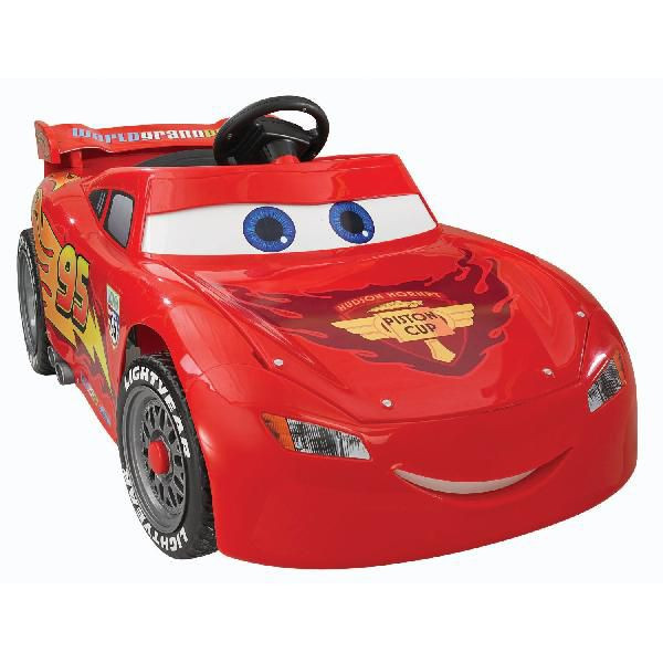 Fisher price power wheels cars Lightning McQueen (Fisher-PricePowerWheelsLightingMcQueen) / / battery car and large electric ride on toys / large passenger