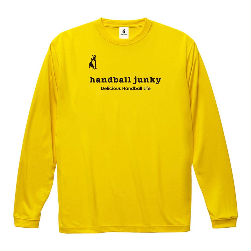 メール便OK 2019年モデル 秋冬新作 Handball Junky ハンドボールジャンキー ロングDryTEE HJ19512 メンズ 長袖Tシャツ 通販 レディース 信用 レフトバック+45