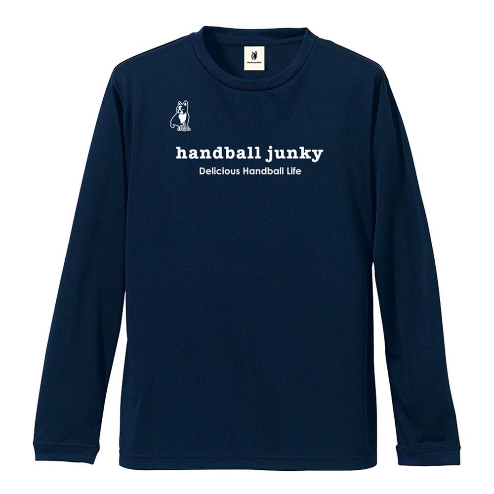 最安値 メール便OK 2019年モデル 低価格化 秋冬新作 Handball Junky ハンドボールジャンキー ロングDryTEE 長袖Tシャツ HJ19512 レフトバック+45 メンズ レディース