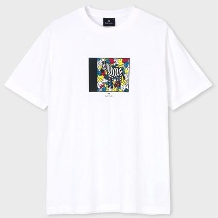 ポールスミス トレンド 財布 バッグ メンズ レディース 送料無料 正規品 新品 ギフト 10代 20代 30代 プレゼント XXL ホワイト 引出物 Tシャツ プリント Hands クリスマス Zebra Paul Smith 40代