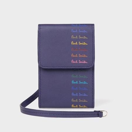 ポールスミス 財布 バッグ メンズ レディース 送料無料 正規品 新品 ギフト 10代 専門店 Paul クリスマス いよいよ人気ブランド Smith パープル パスケース マルチカラードロゴ 30代 40代 プレゼント 20代