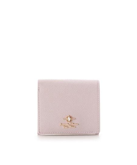 サマンサタバサ 折財布 エリップスストーン BOX型コインケース ピンク SamanthaThavasaPetitChoice