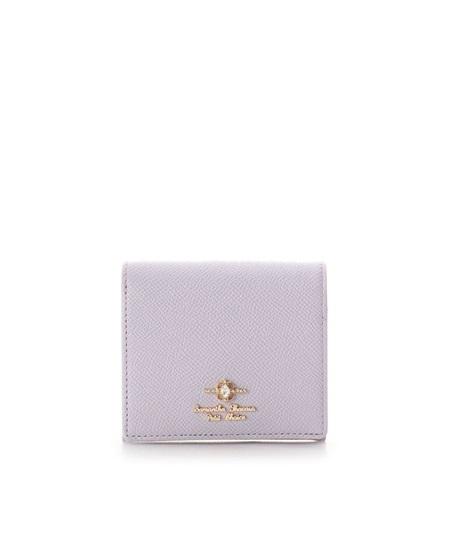 サマンサタバサ 折財布 エリップスストーン BOX型コインケース ラベンダー SamanthaThavasaPetitChoice