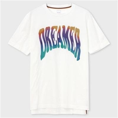 ポールスミス Tシャツ Dreamer ロゴ プリント ホワイト S Paul Smith