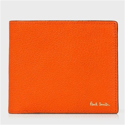 ポールスミス 折財布 カラーブロックゴート 二つ折り オレンジ Paul Smith