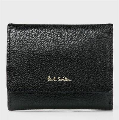 ポールスミス 折財布 カラーブロックゴート 三つ折り ブラック Paul Smith