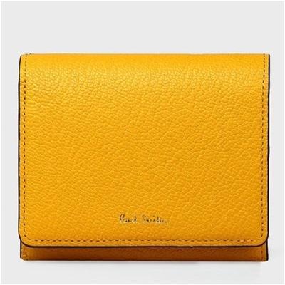 ポールスミス 折財布 カラーブロックゴート 二つ折り イエロー Paul Smith