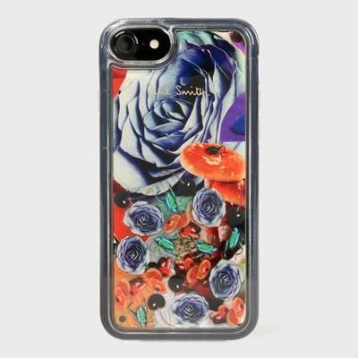 ポールスミス iPhone ケース iPhone7、7S、8兼用 シグネチャーモチーフ  001 コラージュローズ Paul Smith