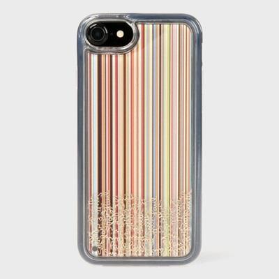 ポールスミス iPhone ケース iPhone7、7S、8兼用 シグネチャーモチーフ 003 マルチストライプ Paul Smith