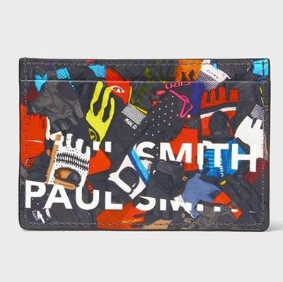 ポールスミス パスケース サイクルグローブ ブラック Paul Smith