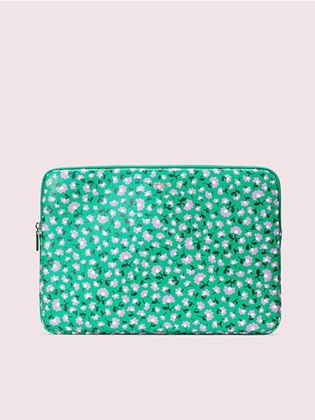 ケイトスペード モバイルケース ラップトップケース パーティー フローラル ラップトップ スリーブ MEADOW GREEN kate spade