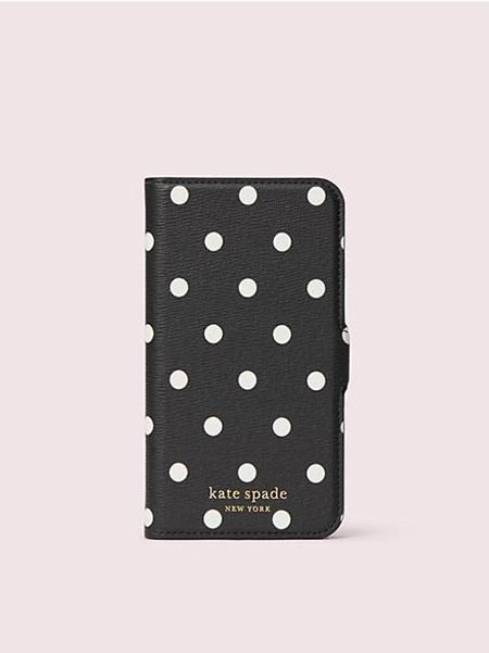 ケイトスペード モバイルケース アイフォン ケース カバナ ドット マグネティック フォリオ 11 PRO BLACK MULTI kate spade