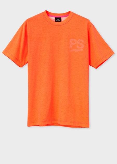ポールスミス Tシャツ PSロゴ ネオンカラー オレンジ XL Paul Smith