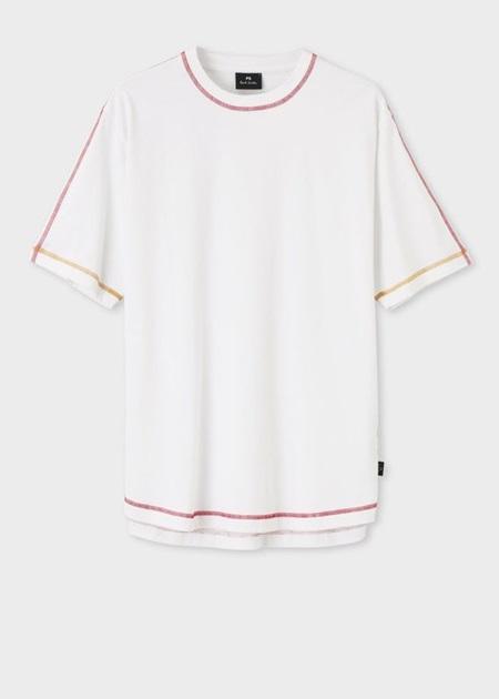 ポールスミス Tシャツ コントラストカラーステッチ ホワイト XXL Paul Smith