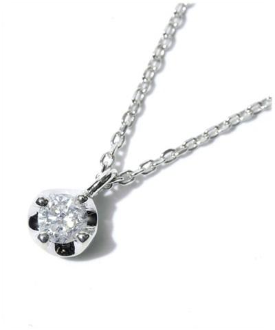 4℃ ヨンドシー K10WG1粒ダイヤモンドネックレス