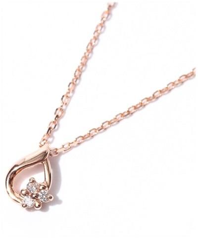 4℃ ヨンドシー ドロップフラワー ピンクゴールドダイヤモンドネックレス
