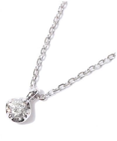 4℃ ヨンドシー 0.07ctダイヤモンド ホワイトゴールドネックレス