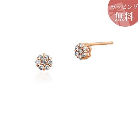 ヨンドシー ピアス ダイヤモンド K10ピンクゴールド 4℃