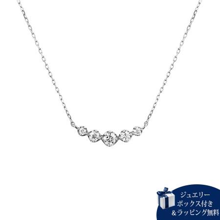 ヨンドシー ネックレス レディース ダイヤモンド シンプル K18ホワイトゴールド 4℃