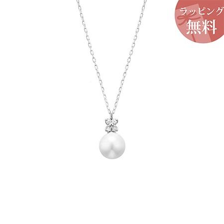 ヨンドシー ネックレス ダイヤモンド パール K10ホワイトゴールド 4℃