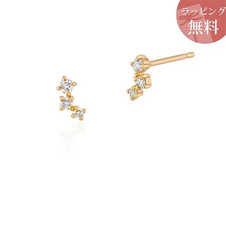 ヨンドシー ピアス ダイヤモンド 3石 K10イエローゴールド 4℃