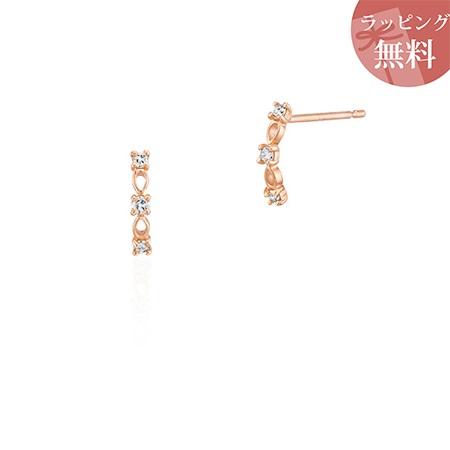 ヨンドシー ピアス ダイヤモンド シンプル K10ピンクゴールド 4℃