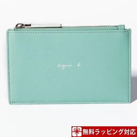アニエスべー カードケース メンズ ライトグリーン agnes b