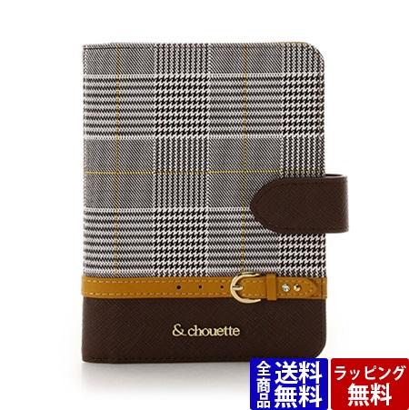 サマンサタバサ カードケース グレンチェックパスポートケース イエロー &chouette